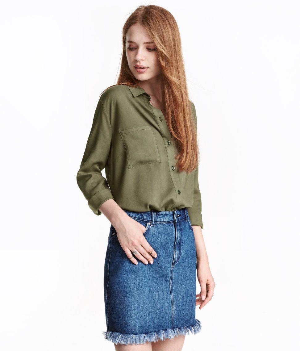 07057548d9 Viscose Shirt   H&M Divided   H&M DIVIDED GIRLS   Shirt blouses ...