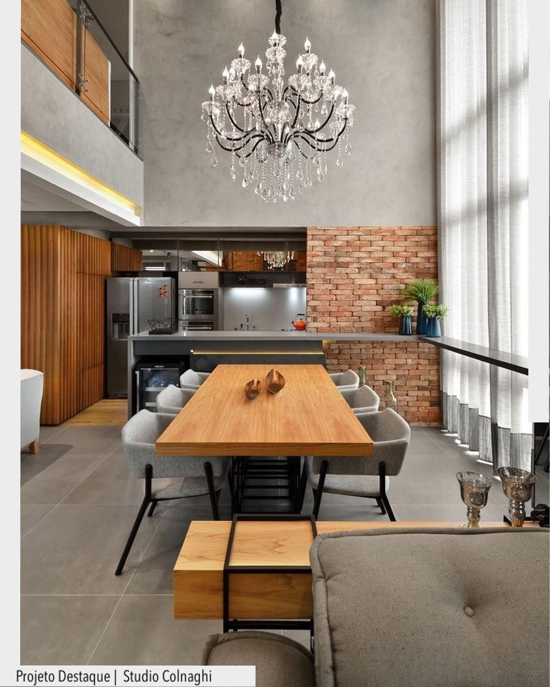 Modern interior design in dining area Pin