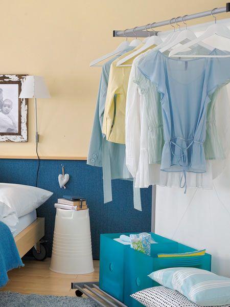 Geschickt einrichten 20 Ideen für kleine Räume Tipp 9 Séparée - schlafzimmer für kleine räume