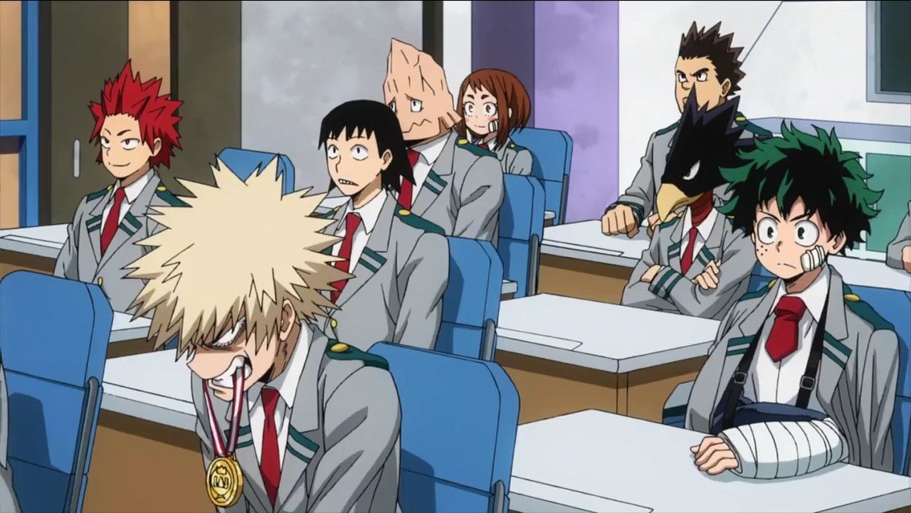 The Day After The Ua Sports Festival Bakugo Still Has The Medal In His Mouth My Hero Hero My Hero Academia