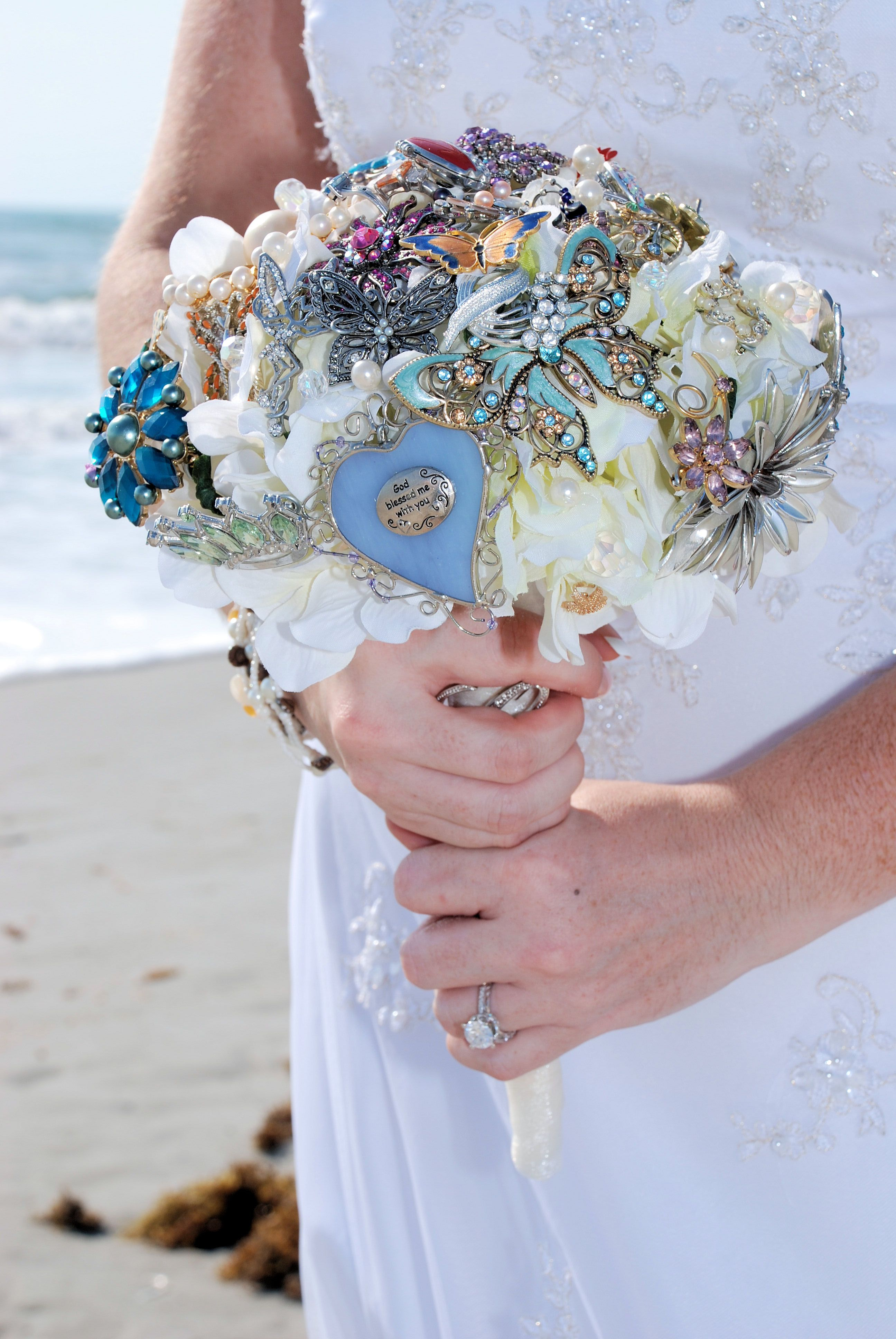 Brooch bouquet made by one of our Sept. 2012 brides