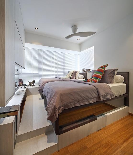Slumbershelves hidden bed + shelves/TV console Hidden
