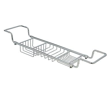 Ponte vasca estensibile in ottone cromo, max 86x12x15 cm