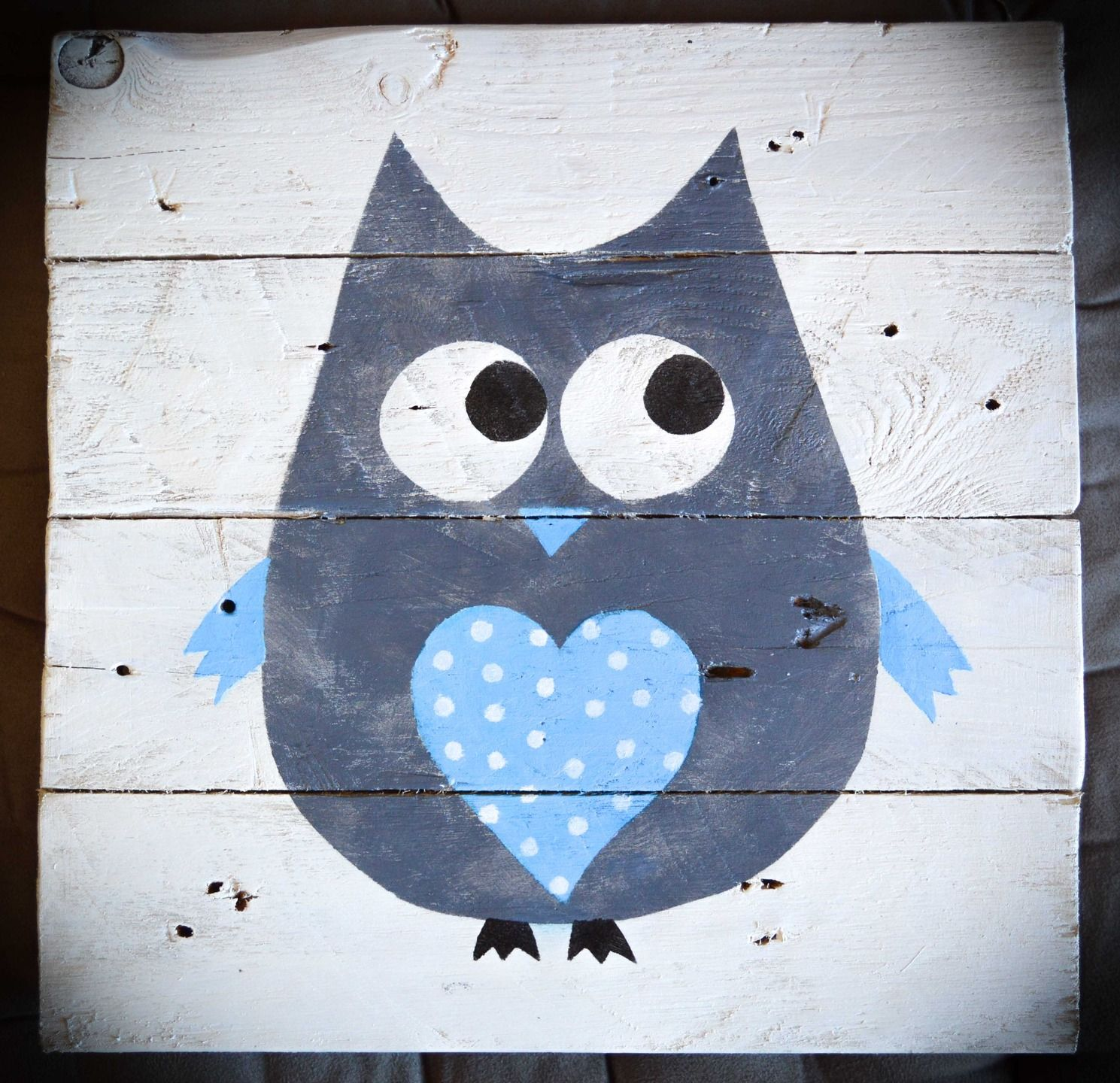 Decoration pour enfants tableau hibou decoration murale for Decoration chambre hibou