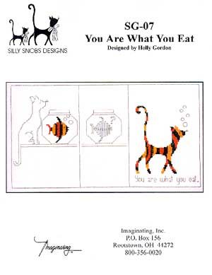 You Are What You Eat - Cross Stitch Pattern  This pattern is for