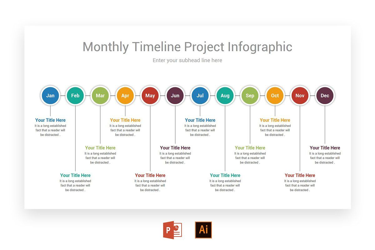 monthly timeline infographics infographic design powerpoint template free