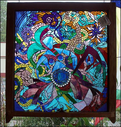 Window? Durga. by Glassjan - Mosaic Art, via Flickr