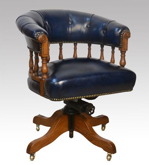 Awe Inspiring Antique Oak Captains Chair In 2019 Vintage Office Chair Uwap Interior Chair Design Uwaporg