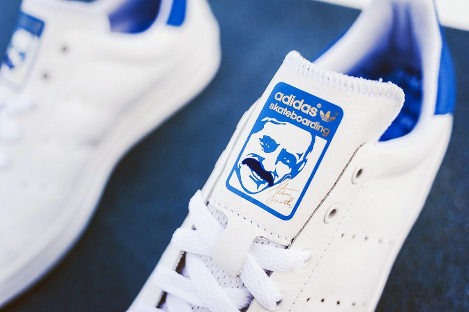 Adidas Stan Smith Vulc White Royal Thumbs Up Adidas Stan Smith Stan Smith Adidas Skateboarding