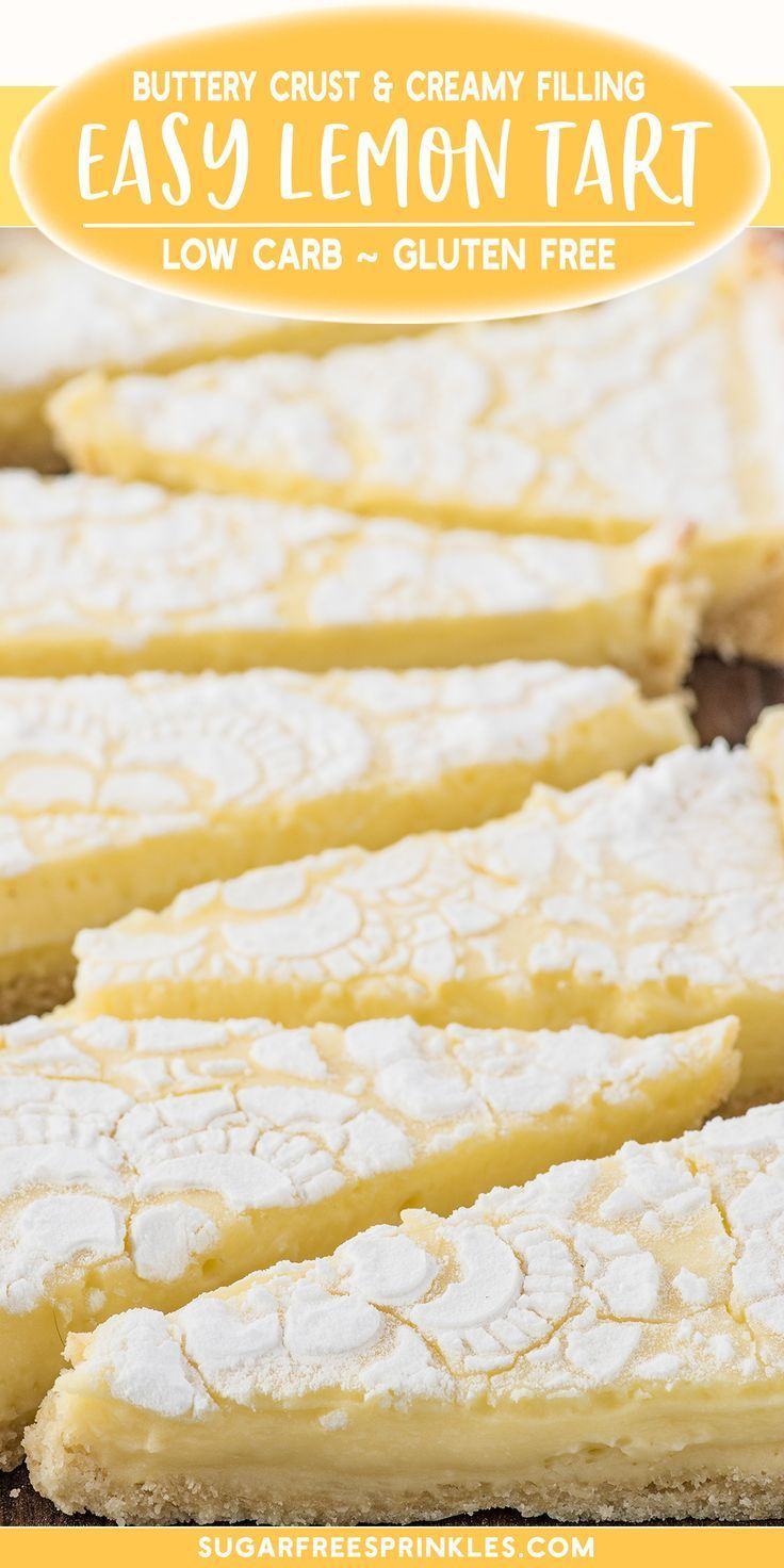 A luscious cream lemon tart that is low carb and g