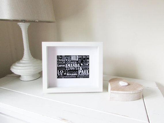 Personalised Wedding Gift Framed Print Personalized by NJRDesigns £20