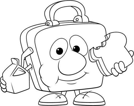 Colorear Vuelta Al Cole 34 Kinder Ideas Loncheras Escolares
