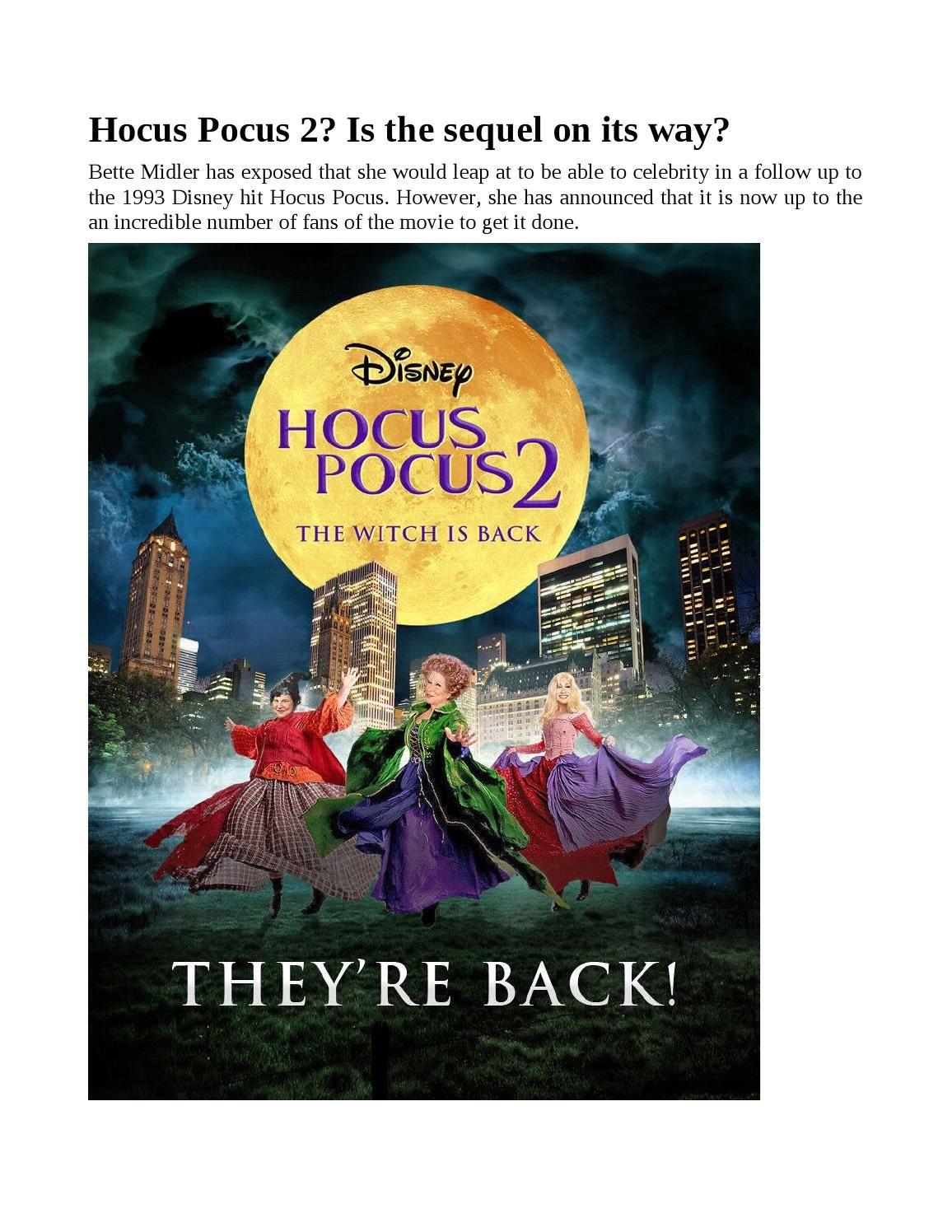 Hocus Pocus 2 Is The Sequel On Its Way Hocus Pocus 2 Hocus Pocus The Incredibles