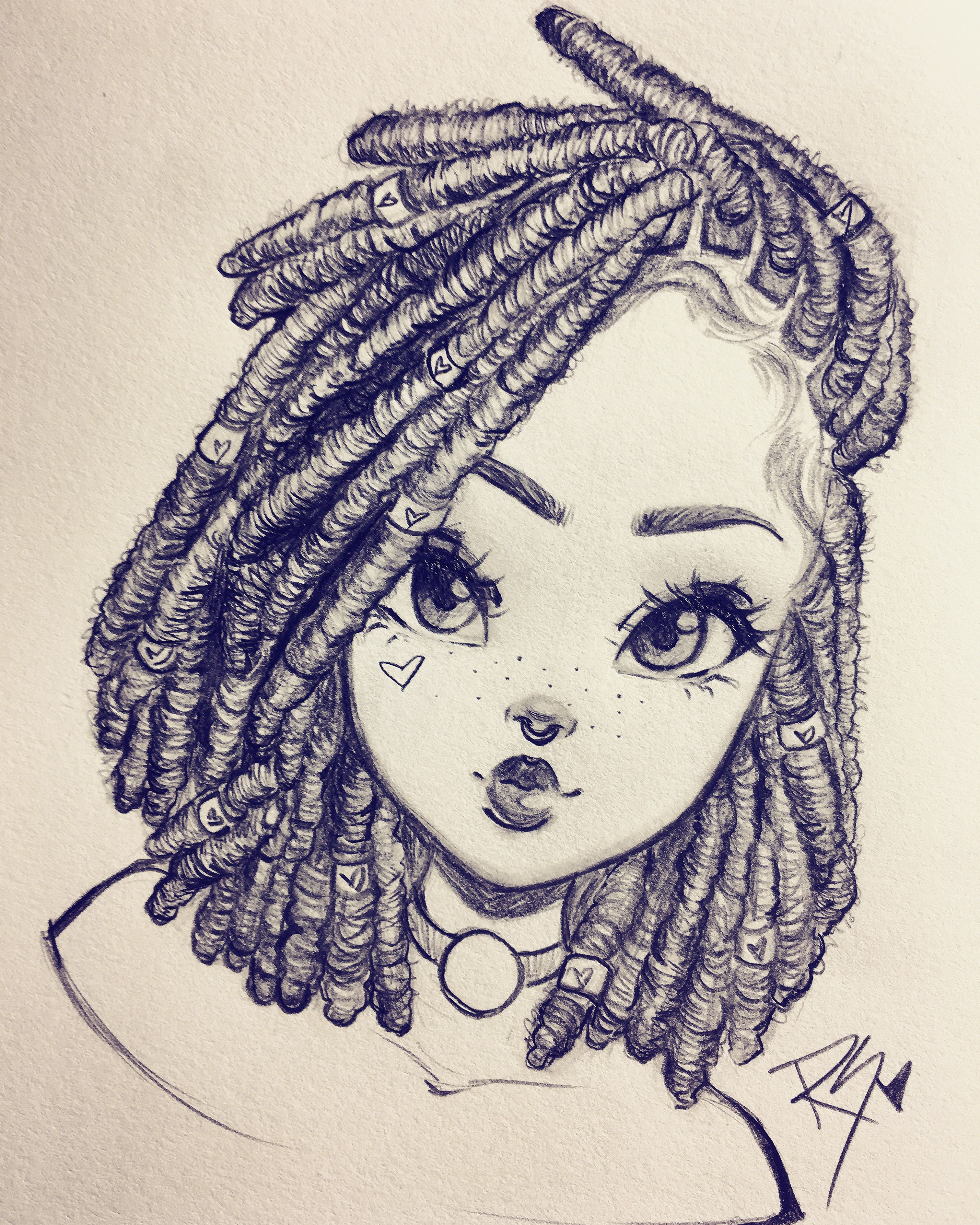 learn how to draw locs with christina lorré rawsueshii designs
