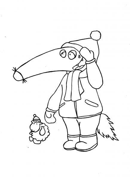 Coloriage hivert p 39 tit loup neige p 39 tit loup pinterest - Coloriage p tit loup ...