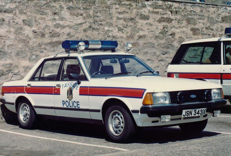 Ford Granada 2 8 Carb Jsn 343x Tayside Police Perth 1982 Police Cars British Police Cars Police