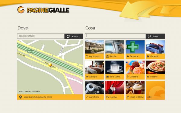 Anche Pagine Gialle lancia la propria applicazione per Windows 8, disponibile gratuitamente al download su Windows Store.