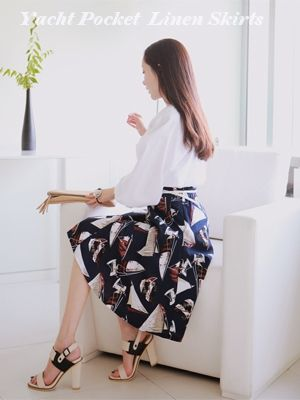Korea feminine clothing Store [SOIR] Yacht Skirt / Size : FREE / Price : 54.41 USD #ops #dress #onepiece #wedding #bridemaid #korea #fashion #style #fashionshop #soir #feminine