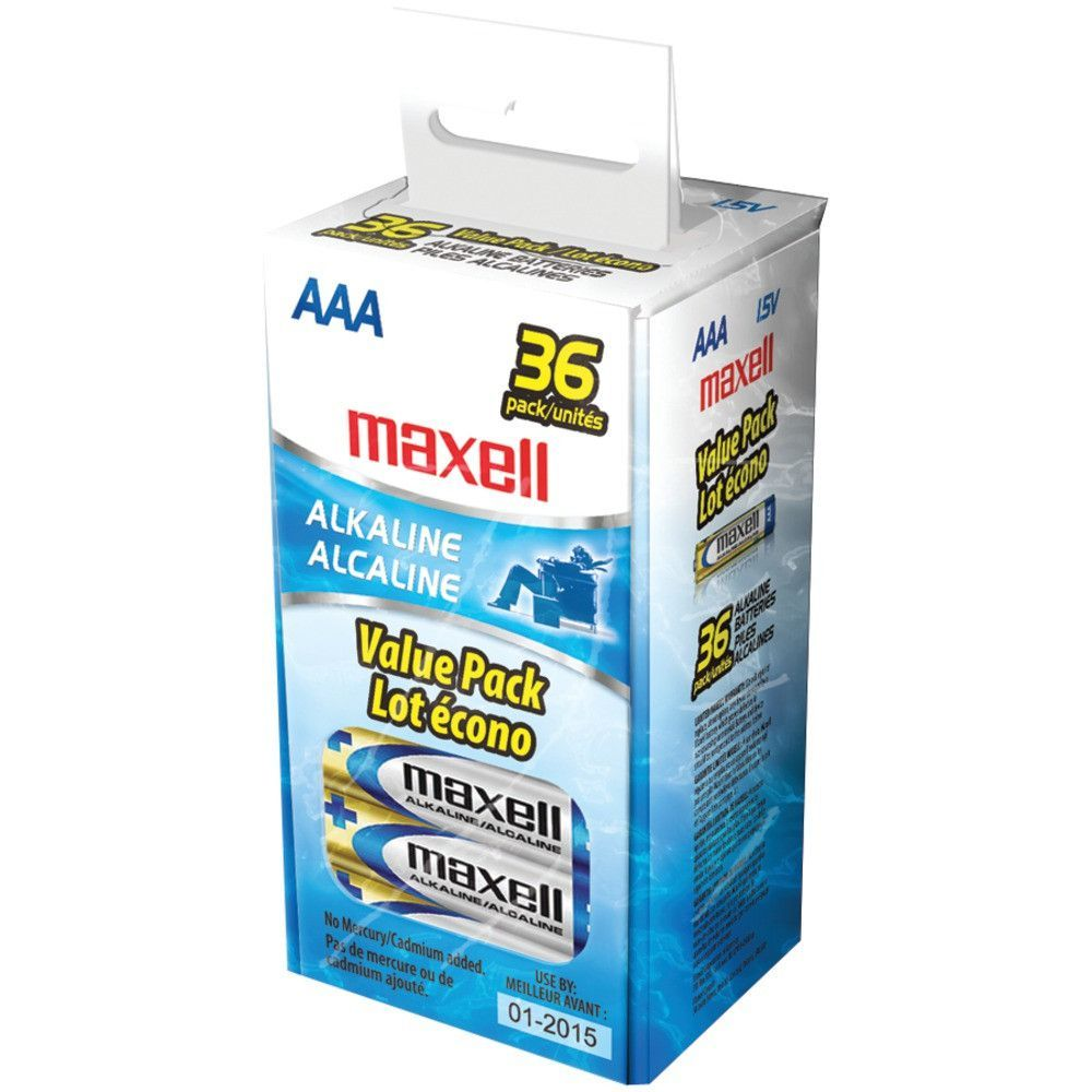 Maxell Alkaline Batteries (aaa; 36 Pk; Box) Alkaline