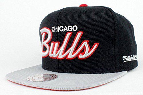 Chicago Bulls Hat NBA Authentic Mitchell   Ness Team Scri ... 117bce182e7