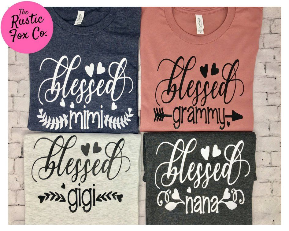 b4c58b59 Blessed Mimi Tee, Blessed Grammy Tee, Blessed Gigi Tee, Blessed Nana Tee,  Grandma to be Shirt, Grandma Shirt, Mimi Shirt, Grammy Shirt, ...