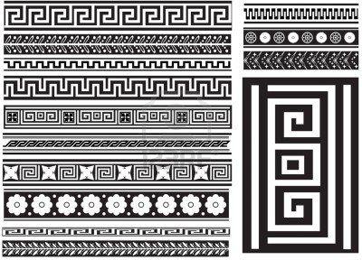 Stock Vector Greek Pattern Greek Key Pattern
