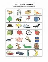 Worksheets Kids Ramying Words 17 best images about rhyming on pinterest dr seuss literacy and preschool