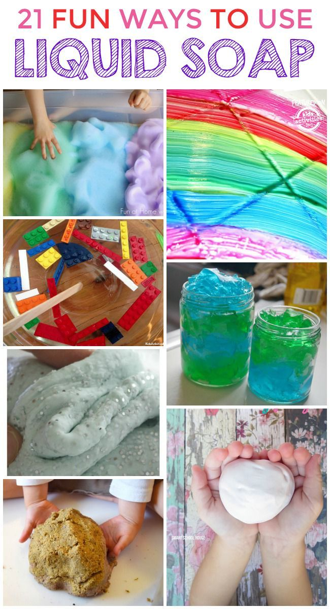21 Super Cool Things To Make With Liquid Soap Preschool Activities