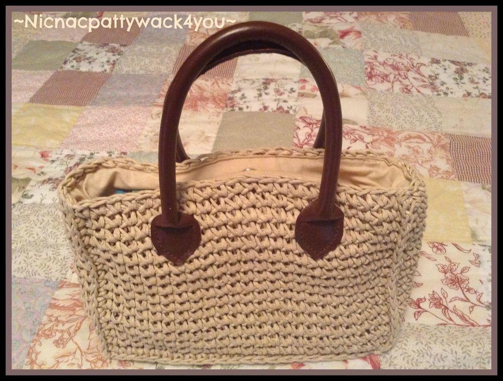 Ladies Casual Woven Straw Handbag