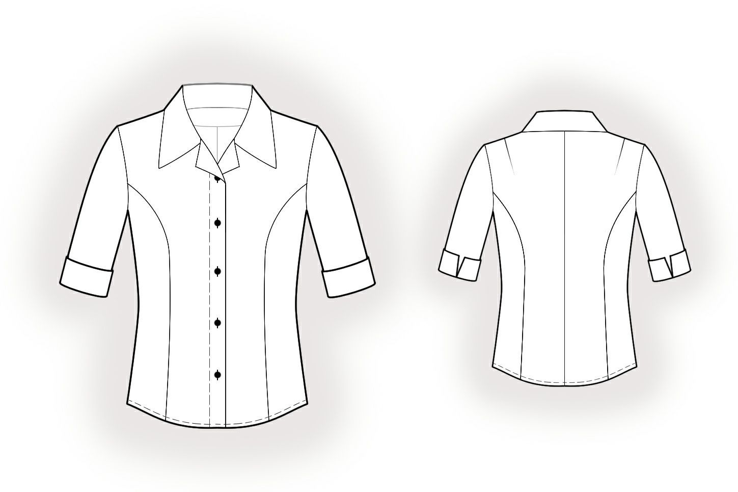 Blouse - Sewing Pattern #5958 Made-to-measure sewing pattern from ...