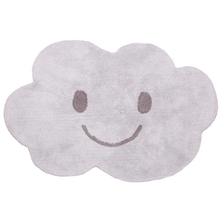 Tapis enfant lavable nuage gris nimbus nattiot tapis Deco chambre bebe nuage