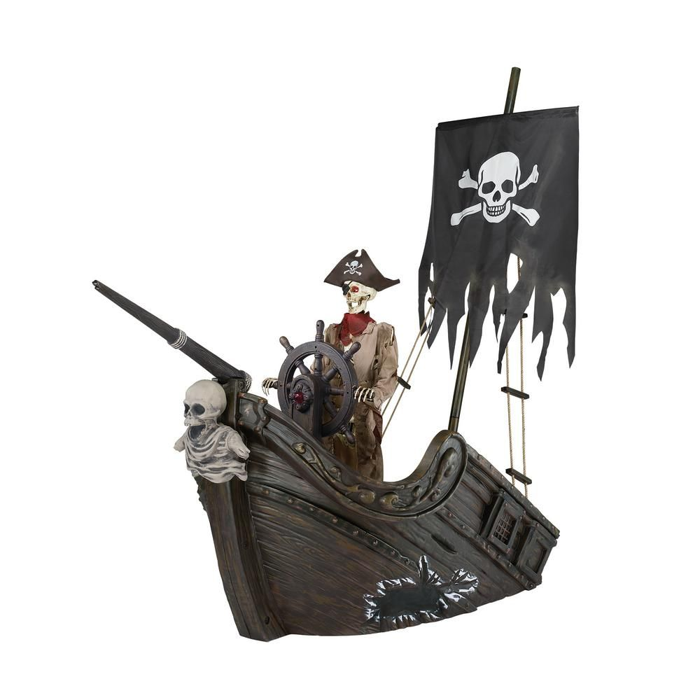 Home accents holiday 116 in pirate ship with animated