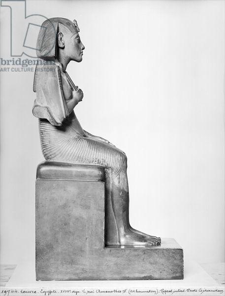 Seated statue of Amenophis IV (Akhenaten), New Kingdom, c.1375-1354 BC (steatite)