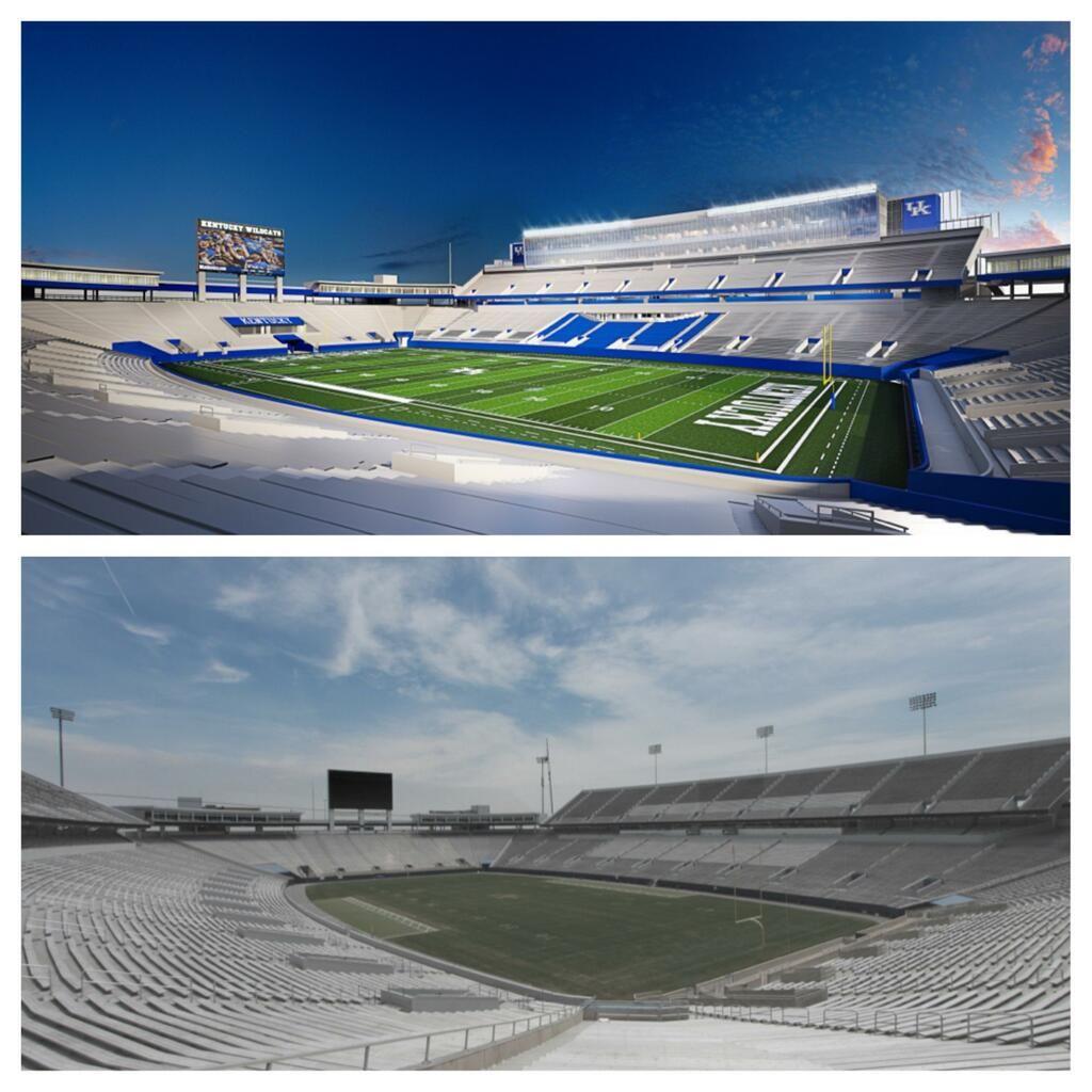 Univeristy Of Kentucky Commonwealth Stadium Renovation Stadium Instagram Kentucky