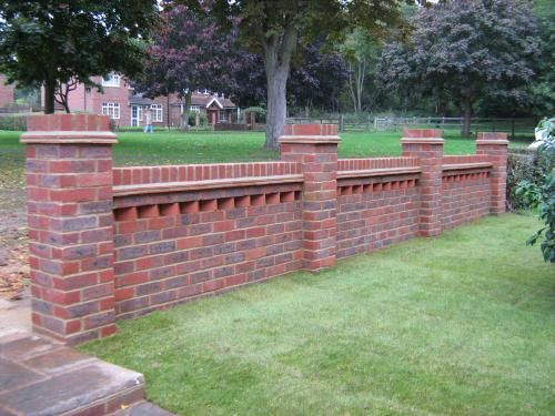 9 Garden Wall With 18 Piers And A Dog Tooth Feature Finished With