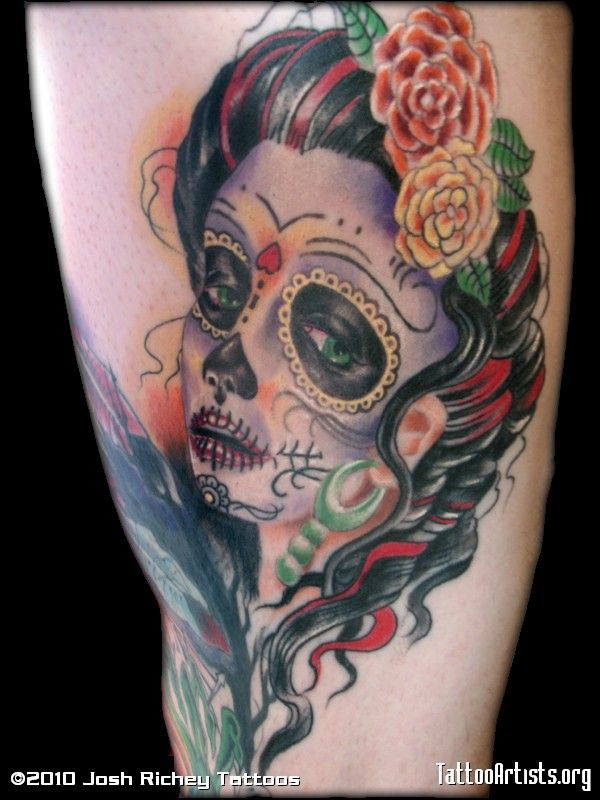 Day Of The Dead Girl By Josh Richey Richmond Va Tattoos Tattoo Artists Day Of The Dead Girl Tattoo