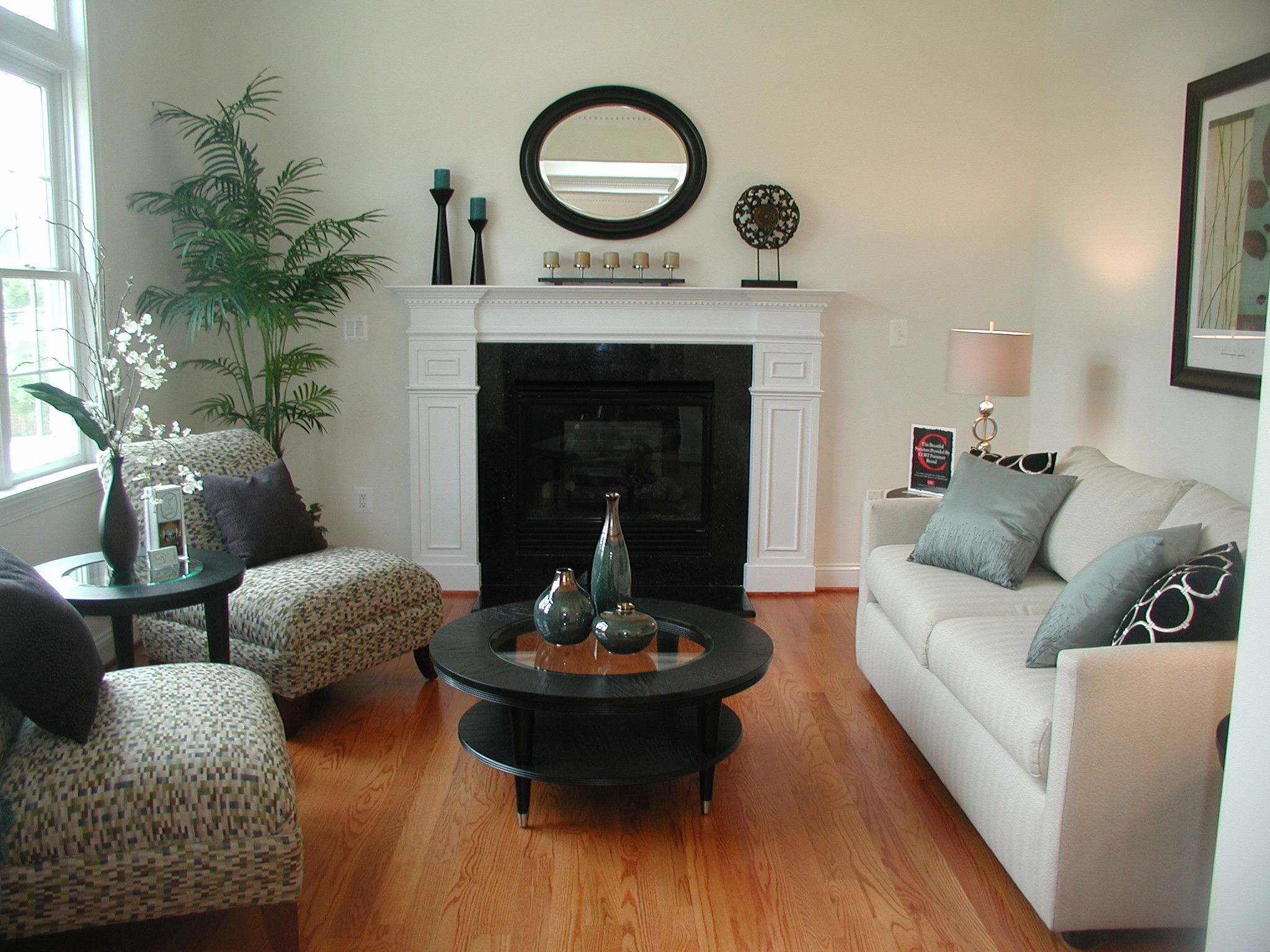 Home Staging Living Room with Fireplace