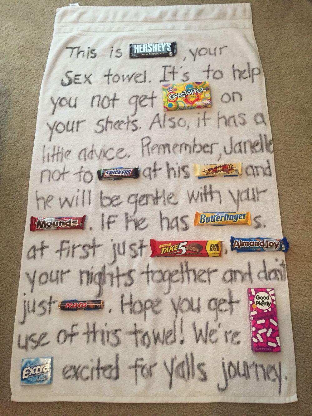 Bridal Shower gag gift Candy bar poem