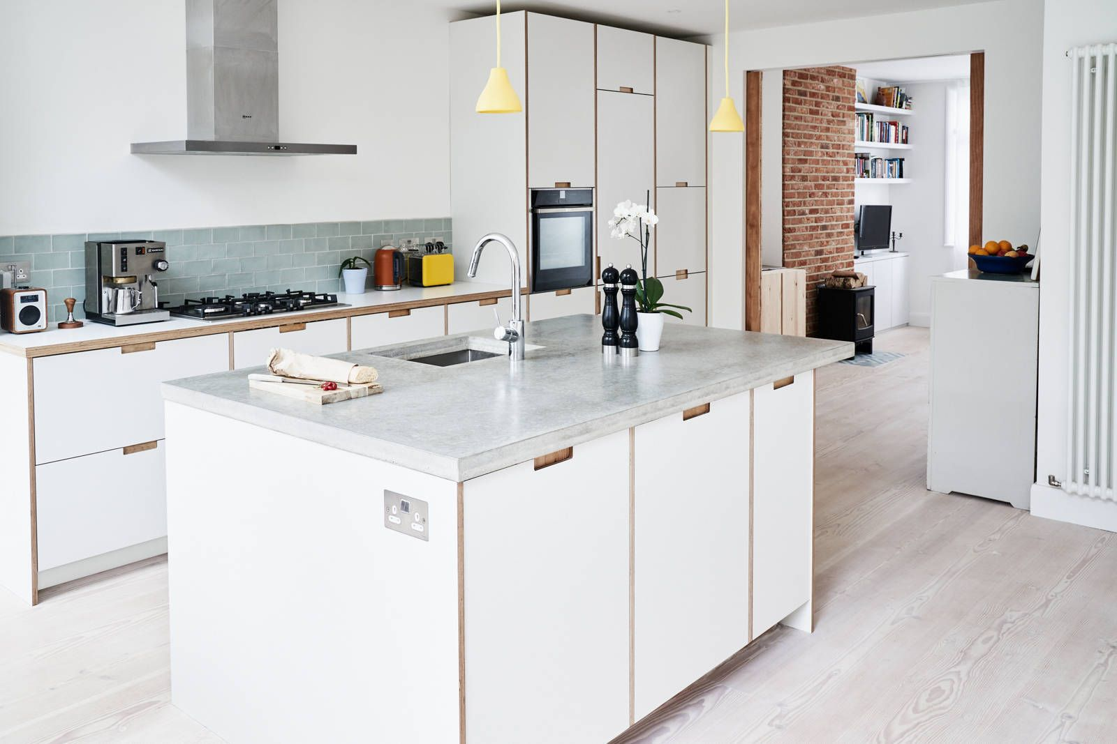 Formica Faced Plywood Kitchen In Crystal White By Plykea Plywood Kitchen Kitchen Kitchen Worktop