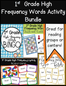 1st Grade High Frequency Words Activity Bundle High Frequency
