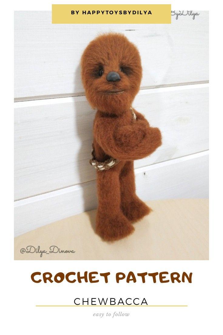 Crochet pattern chewbacca stuffed toy chewie dog wookiee