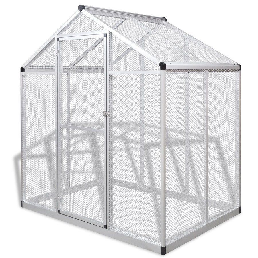 Large Bird Cage Exotic Parrots Outdoor Walk In Garden Aviary Strong ...