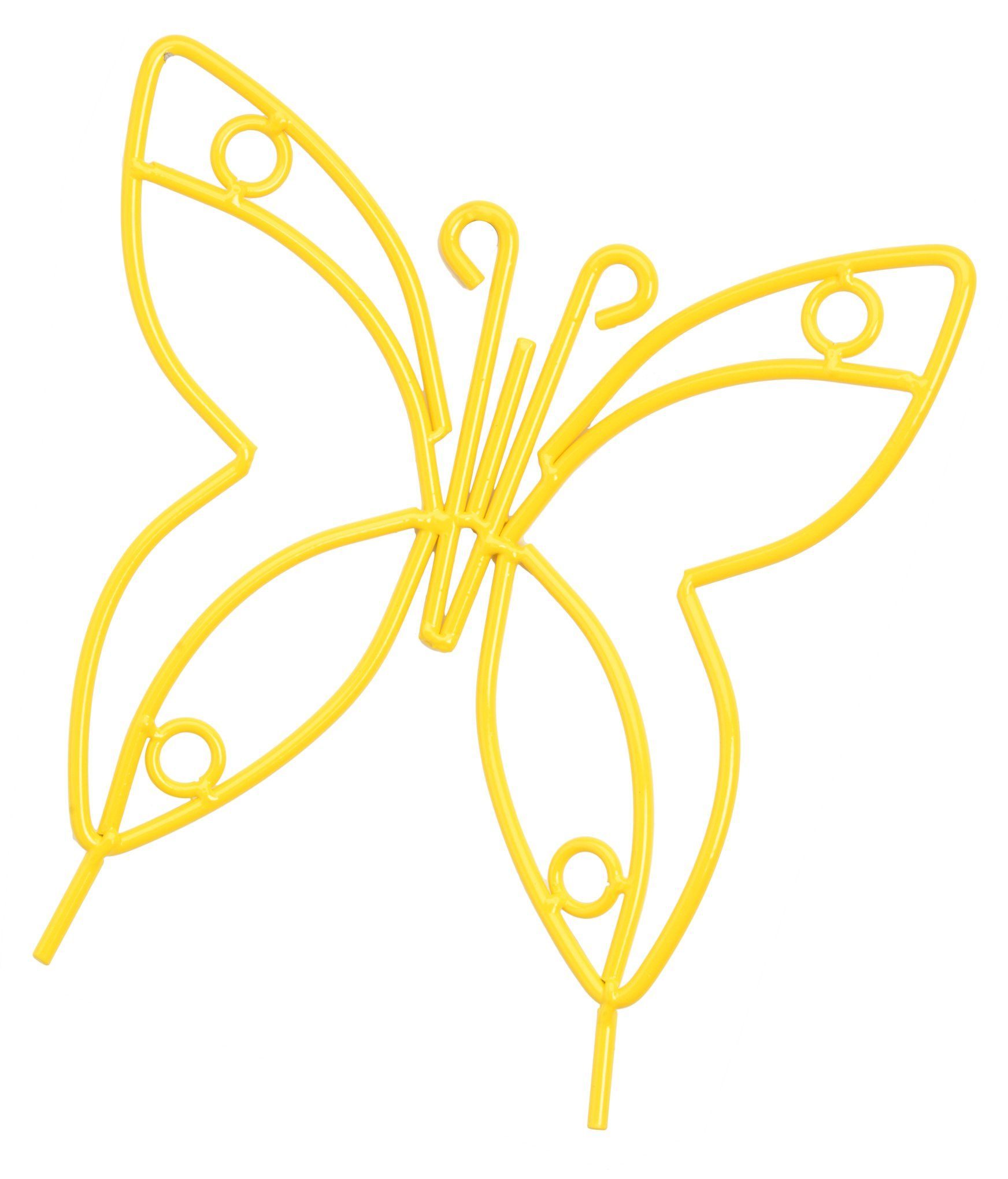 Wrought Iron Butterfly Garden Stake - Amish Handmade Lawn Wall Decor ...