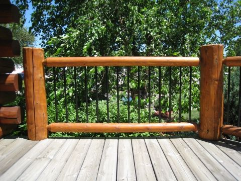Good Cabin Railing Idea Log Home Mart 1 800 426 1002   Your Resource · Railing  IdeasDecking ...
