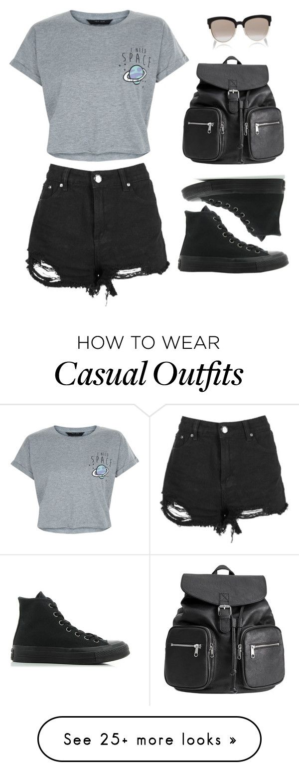 """Summer casual"" by soccerstarz5 on Polyvore featuring New Look, Boohoo, Christian Dior and Converse"