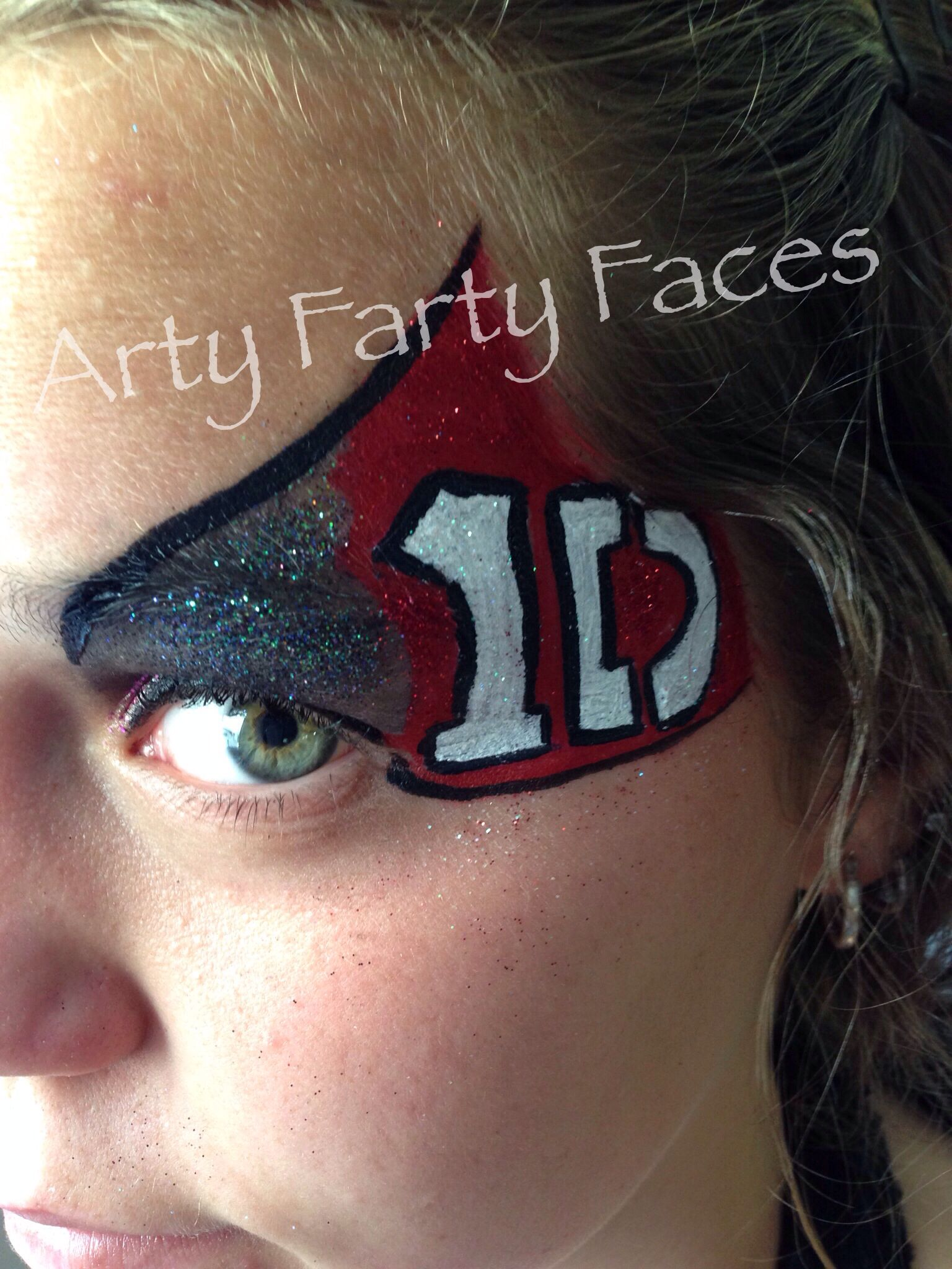 1 Direction Carnival face paint