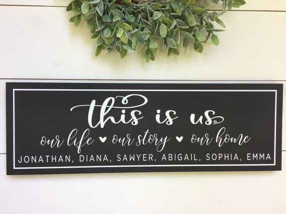 This Is Us Wood Sign Personalized Wood Family Name Sign Etsy In 2021 Diy Wood Signs Family Wood Signs Wood Signs