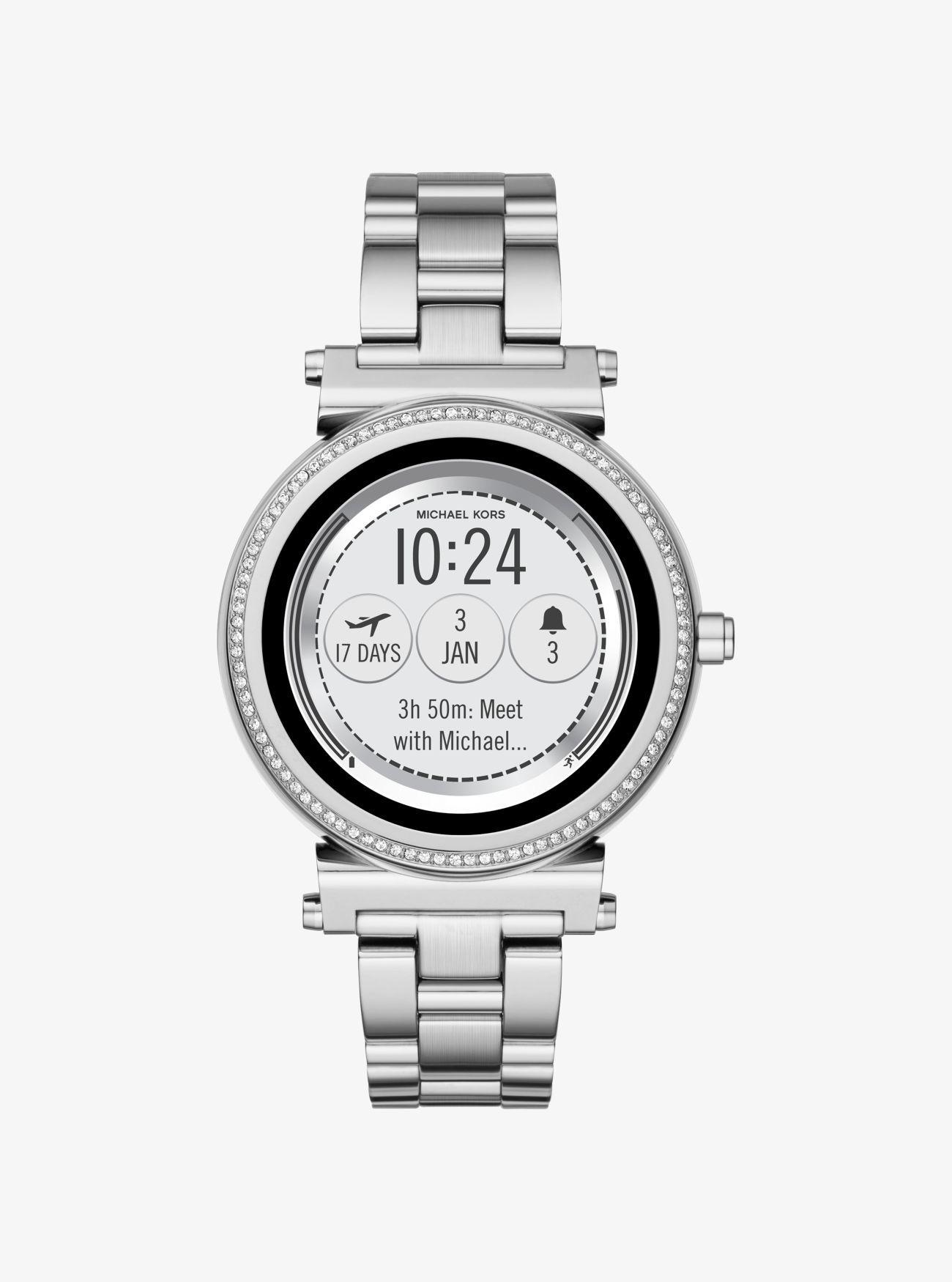 Sofie Pavé SilverTone Smartwatch Smart watch, Kor