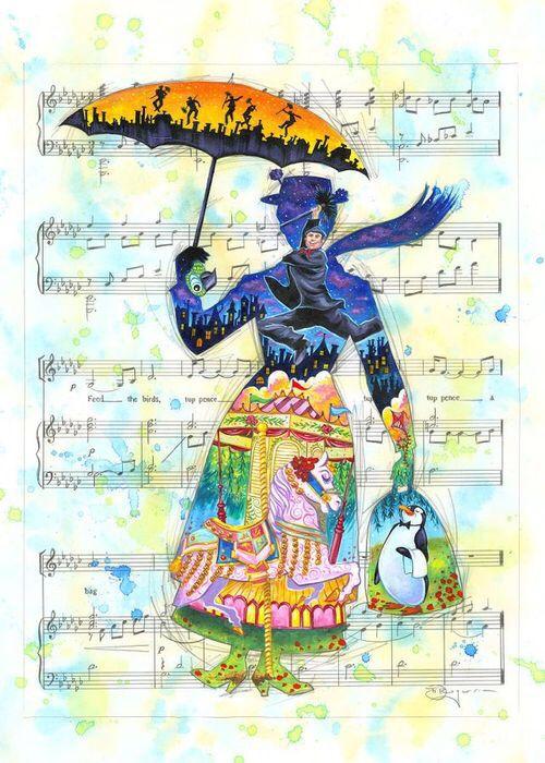 Disney classics // Mary Poppins // Walt Disney // abstract design ...