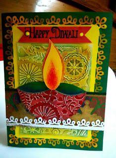 Art Craft Ideas And Bulletin Boards For Elementary Schools Happy Diwali Handmade Card